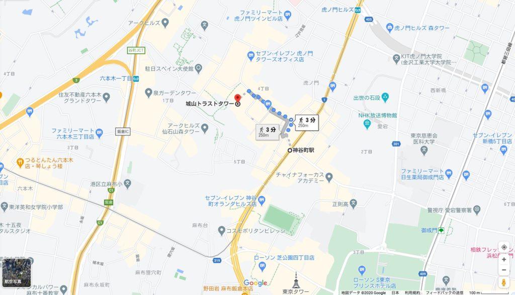 城山トラストタワー地図